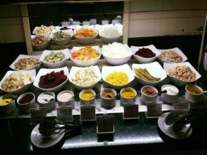 Variety of dishes in Hotel Copacabana, Havana