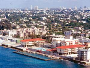 Distant view of Hotel Copacabana