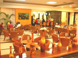 People are dining in Hotel Copacabana restaurant